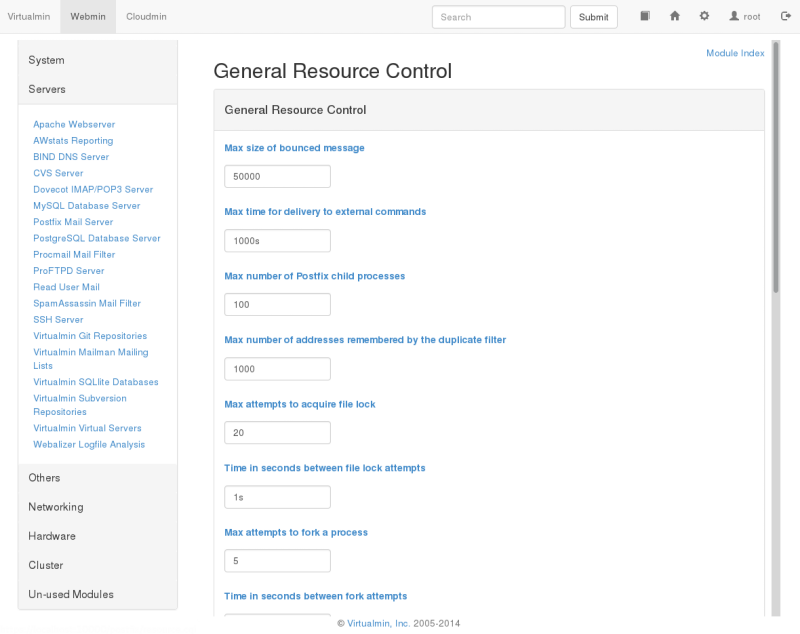 General resource control